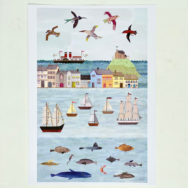 Illustrated Print - Harbour