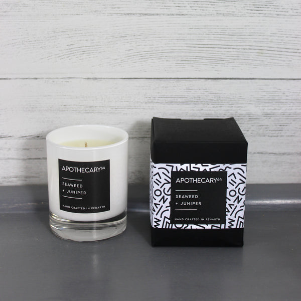 Hand Crafted Soy Candle - Seaweed & Juniper