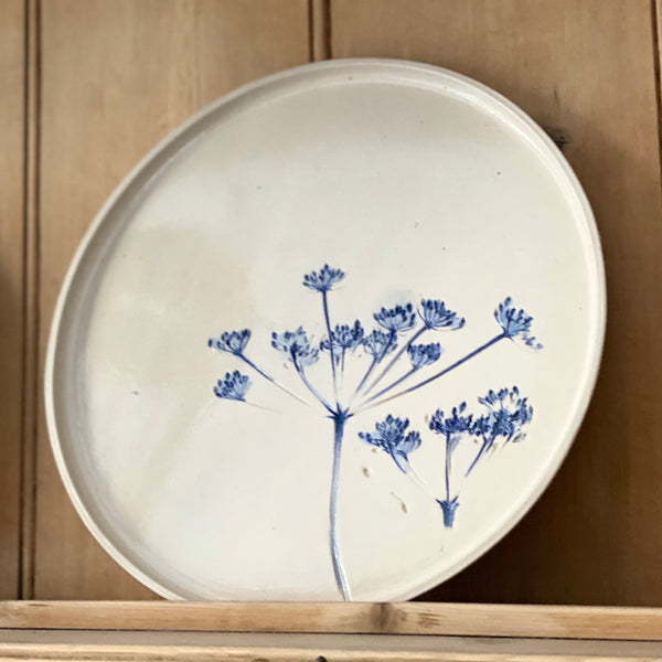 Large Ceramic Cow Parsley Plate