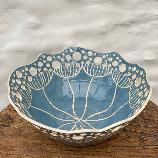 Cow Parsley Bowl - Light Blue - Large