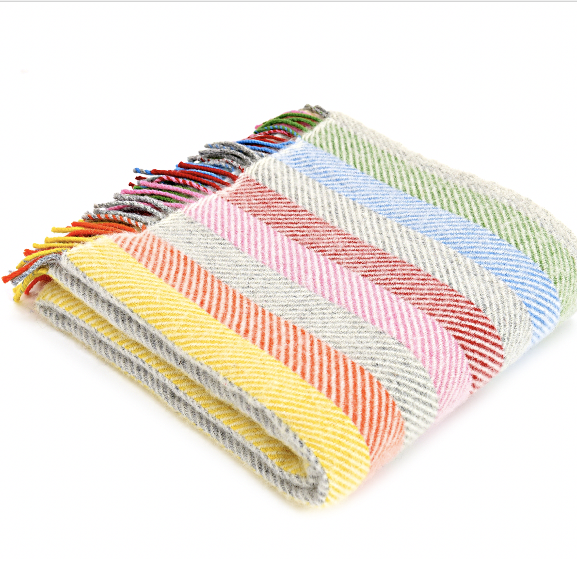 'Enfys' Rainbow Pure New Wool Blanket