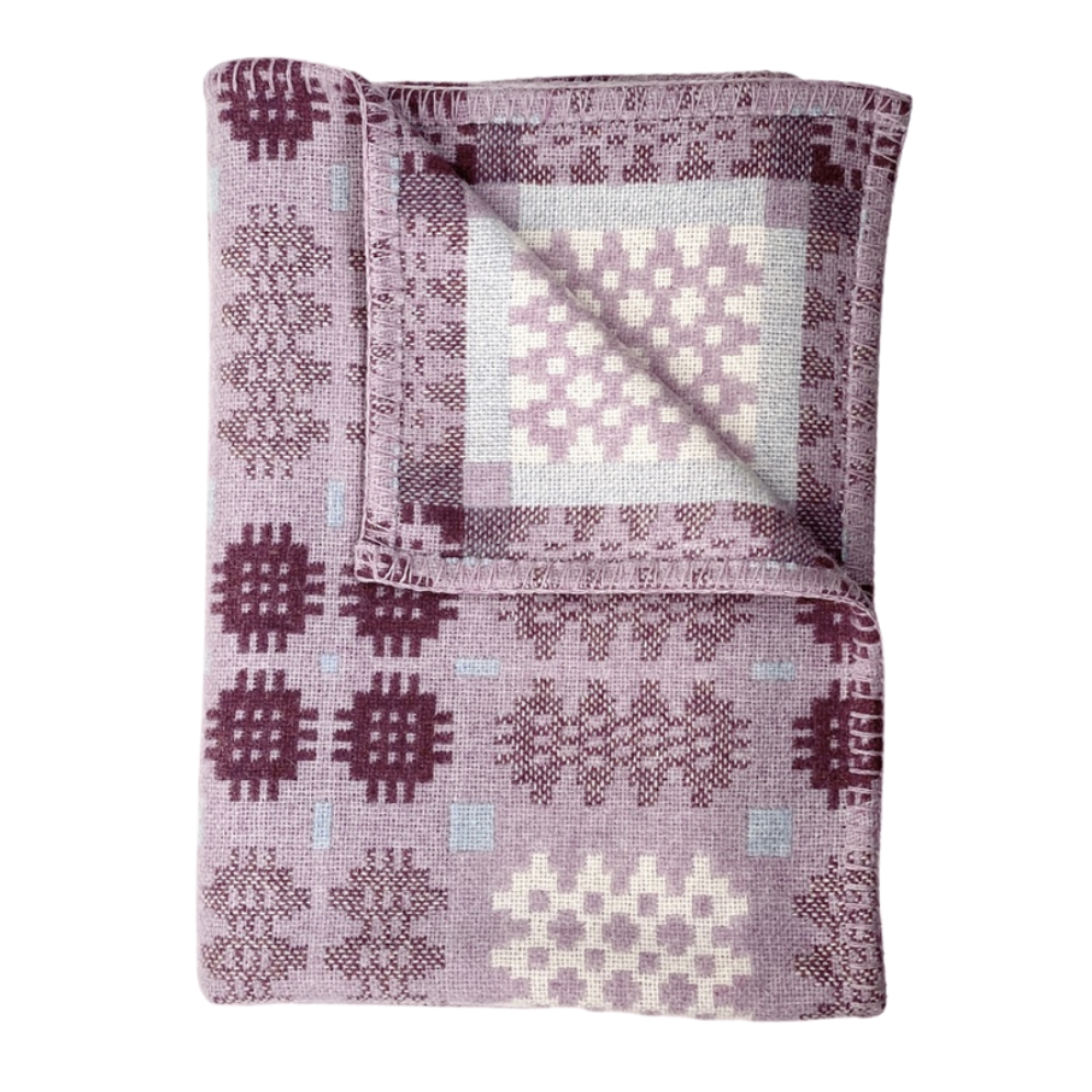 Welsh Tapestry Throw Grug y Mynydd Lilac and Heather
