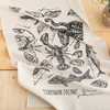 Screen Printed Fisherman Dreams Tea Towel