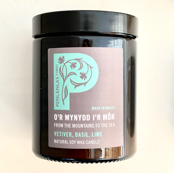 O'r Mynydd I'r Mor (From the Mountains to the Sea) Candle