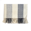 Wool blanket - Grey Wide Stripe