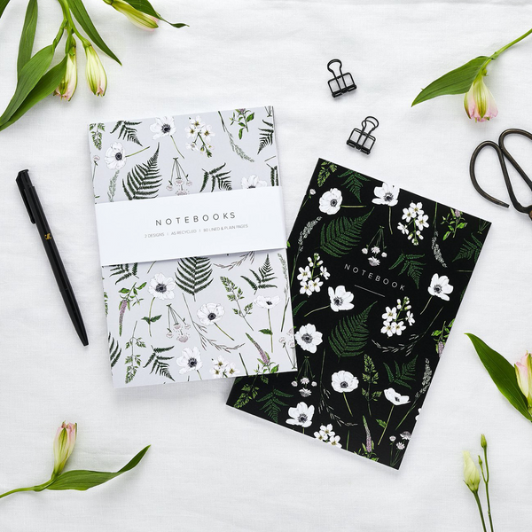 Botanical A5 Notebook Set of Two - Wild Meadow