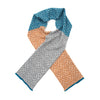 Merino Wool Knitted Scarf - Mustard and Blue