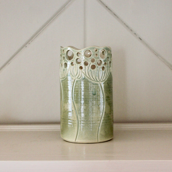Cow Parsley Vase - Sage