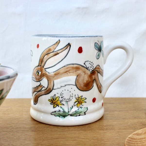 Hand-Painted 'Happy Hare' Mug