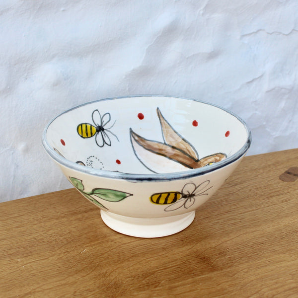 Hand-Painted 'Happy Hare' Bowl