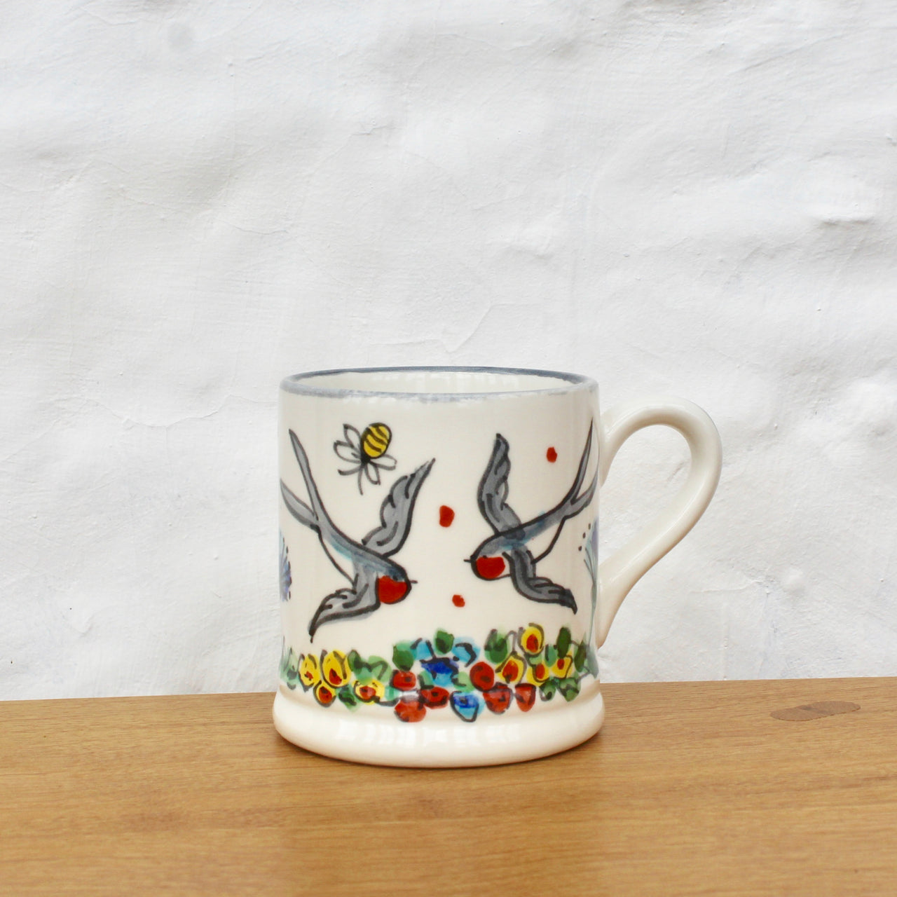 Hand-Painted 'Summer Swallow' Mug