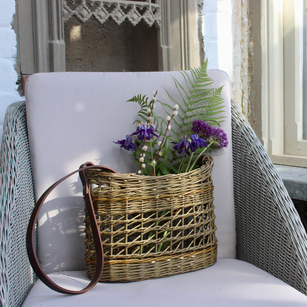 Willow Shoulder Basket with Strap