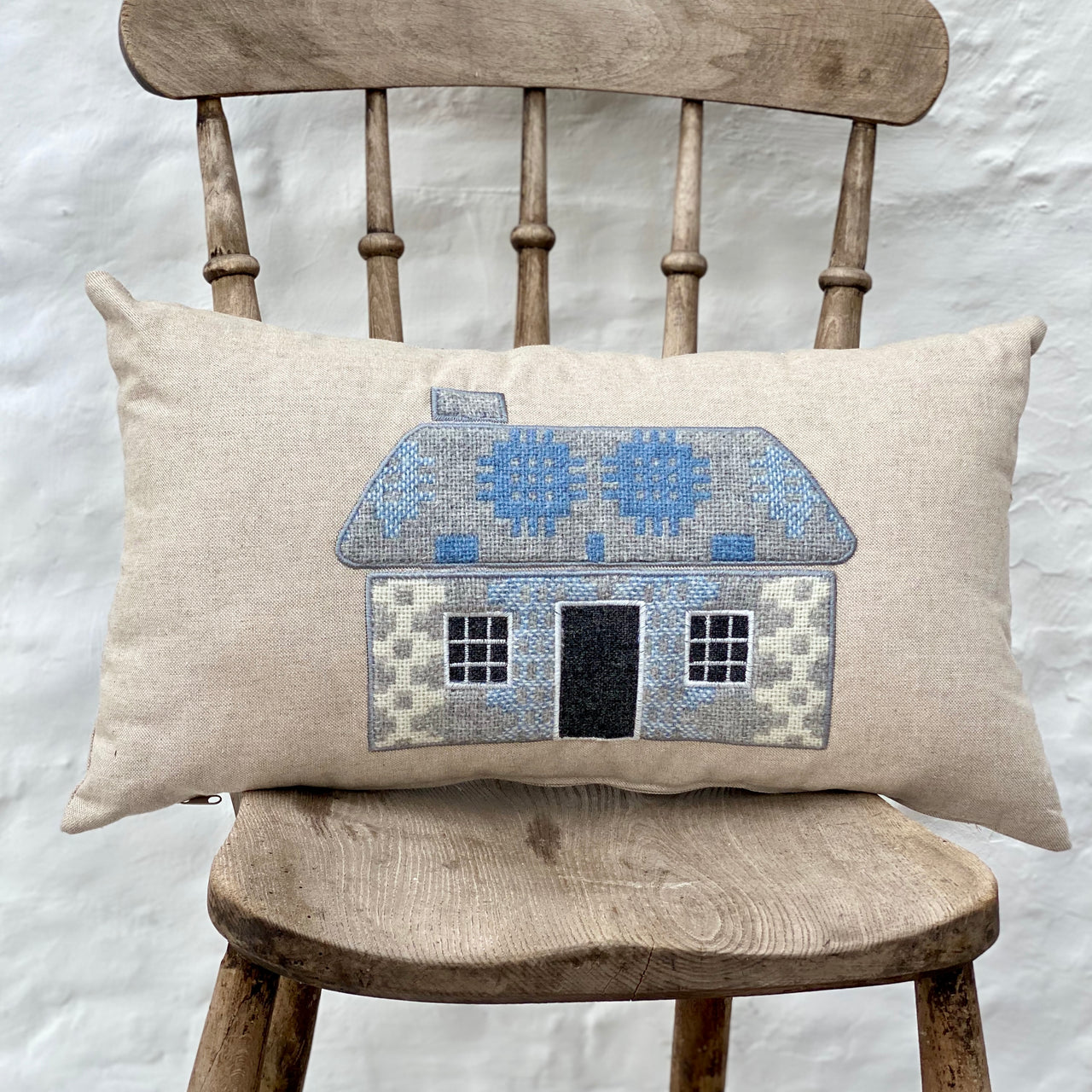 Welsh Cottage (Bwthyn) Embroidered Cushion - Hafod