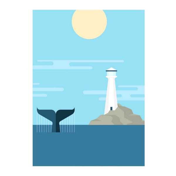 Tail and Lighthouse Print by Ed Harrison