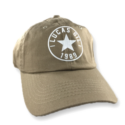 Beige Lucas Oil 1989 Dad Hat