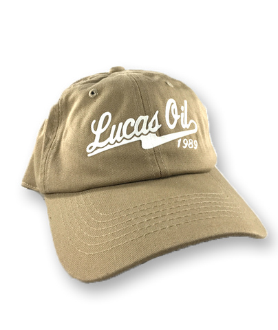 Beige Lucas Oil Baseball Dad Hat