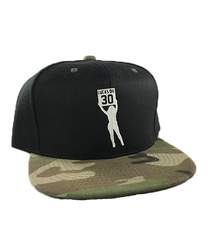 Camo Bill Board Girl Snapback Hat