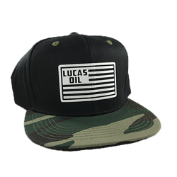 Camo Bill Lucas Flag Snapback Hat