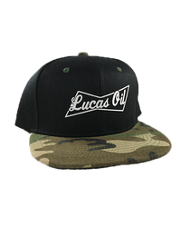 Camo Bill Lucas Oil Bud Snapback Hat