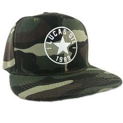 Lucas Oil Star 89 Camo Snapback Hat