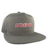 Lucas Oil Gray Mesh Snapback Hat