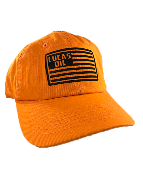 Neon Orange Lucas Flag Dad Hat