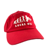 Red Lucas Oil Evolution Dad Hat