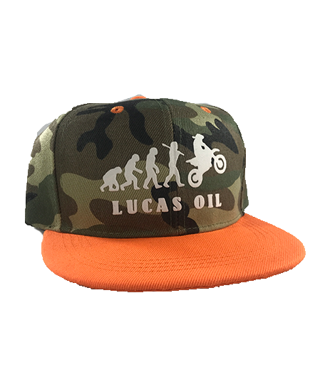 Youth Camo Orange Bill Evolution Snapback Hat