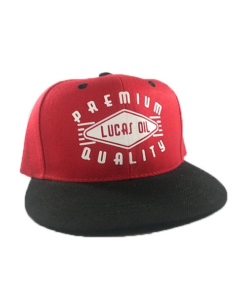 Youth Red & Black Premium Quality Snapback Hat