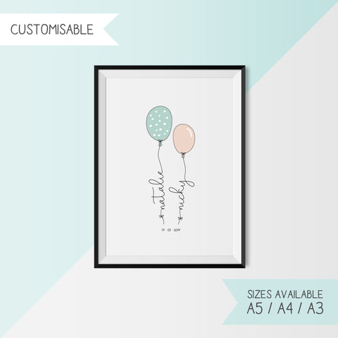 BALLOON NAMES - CUSTOMISABLE