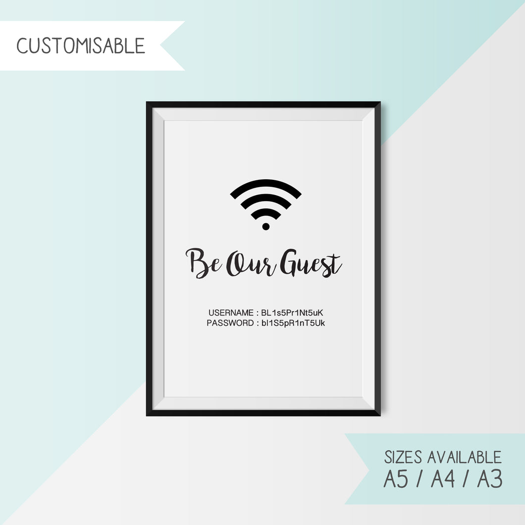 DISNEY - WIFI BE OUR GUEST - CUSTOMISABLE
