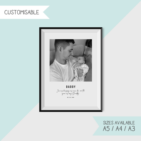 PHOTOGRAPH WITH DADDY - CUSTOMISABLE