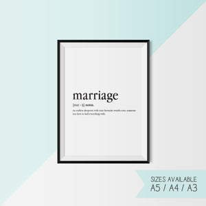 MARRIAGE - DEFINITION