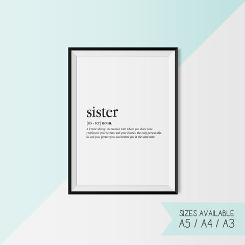 SISTER - DEFINITION