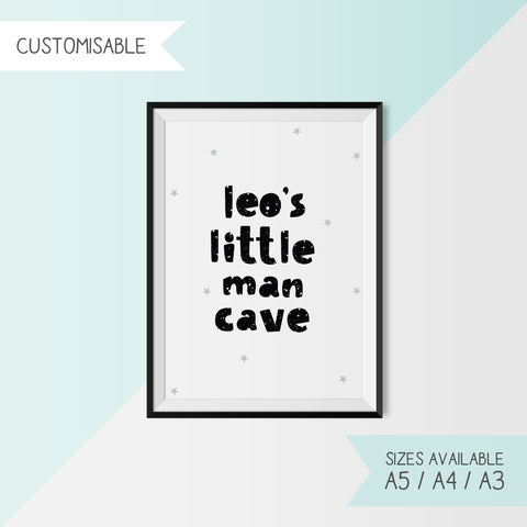 LITTLE MAN CAVE - CUSTOMISABLE