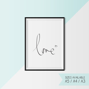 LOVE - HANDWRITTEN