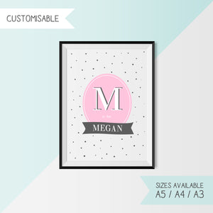 PINK - ALPHABET & NAME - CUSTOMISABLE