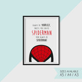 SPIDERMAN THEMED - Set - CUSTOMISABLE