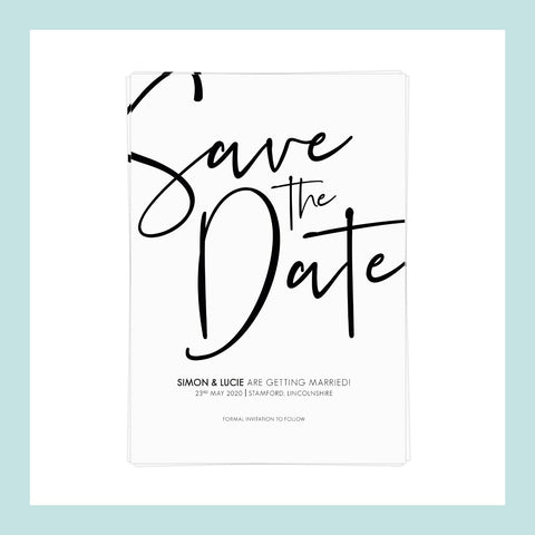 WEDDING - Save the Date - Scripted & Minimal