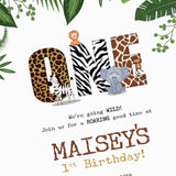 BIRTHDAY PARTY- Invitation - Animal & Jungle