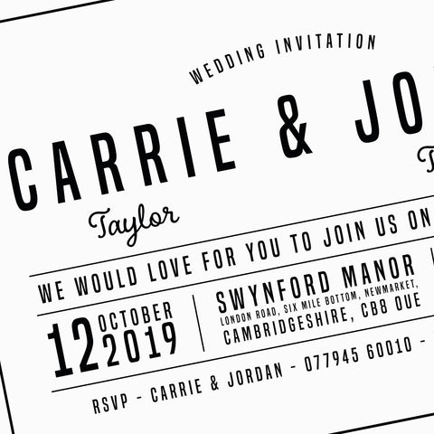 WEDDING - Invitation - Minimal & Structured
