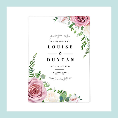 WEDDING - Invitation - Pink Floral