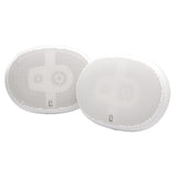"Poly-Planar 6"" x 9"" Premium Oval Marine Speakers - (Pair) White"