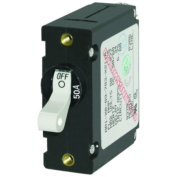 Blue Sea 7230 AC / DC Single Pole Magnetic World Circuit Breaker  -  50 Amp