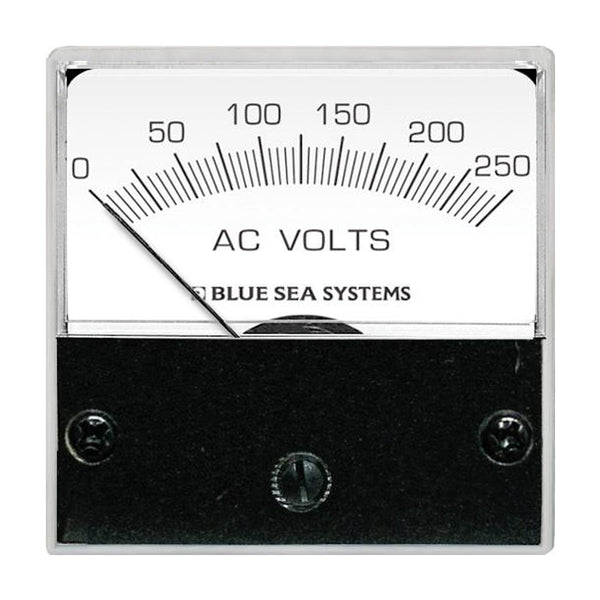 "Blue Sea 8245 AC Analog Micro Voltmeter - 2"" Face, 0-250 Volts AC"