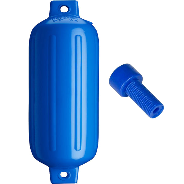 "Polyform G-6 Twin Eye Fender 11"" x 30"" - Blue w/Air Adapter"