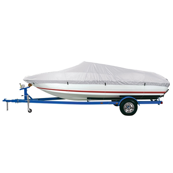 Dallas Manufacturing Co. Reflective Polyester Boat Cover A - Fits 14'-16' V-Hull Fishing Boats - Beam Width to 68""