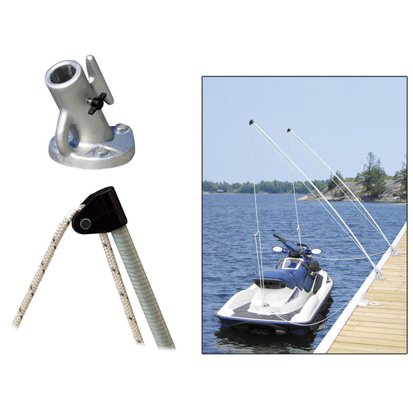 Dock Edge Economy Mooring Whips 8ft 2000 LBS up to 18ft