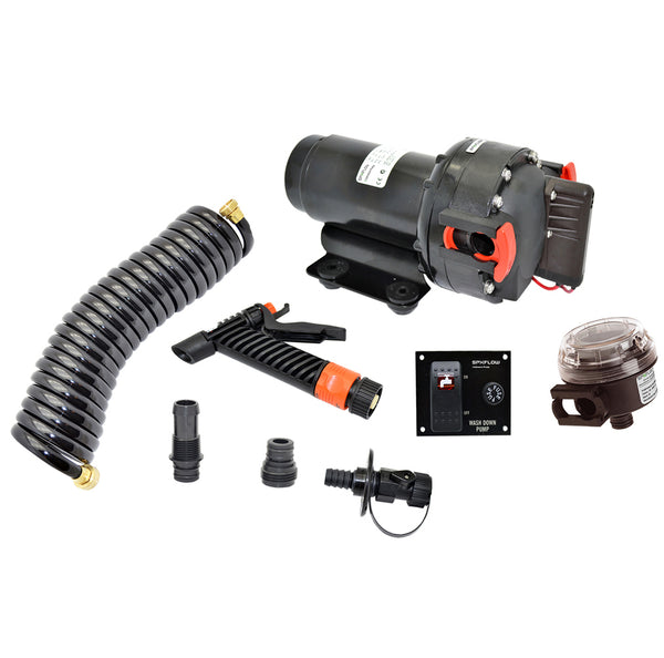 Johnson Pump Aqua Jet 5.2 GPH Washdown Pump Kit w/Hose 12V