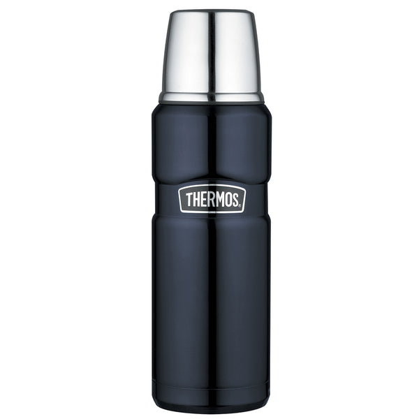 Thermos Stainless King™ Vacuum Insulated Beverage Bottle - 16 oz. - Stainless Steel/Midnight Blue
